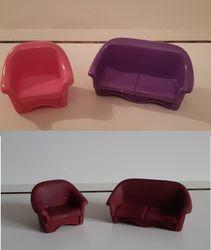Plasric sofa and armchair