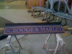 Scrooge & Marley sign