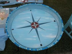 blue compass table
