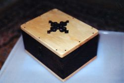 Maple topped walnut box