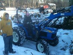 CJ, Jared, Josh & New Tractor