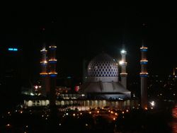 Masjid Biru at Night