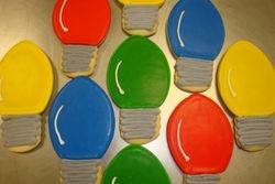 X-mas bulb cookies $3 each