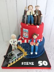 Bottom, Back to the Future and Liverpool 50th Birthday Cake