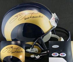 Sam Bradford SIGNED IN THE PRESENCE Rams Helmet  ITP ROOKIEGRAPH PSA/DNA and TRISTAR AUTHENTIFICATION