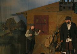 The Fiddler follows Tevye out of Anatevka