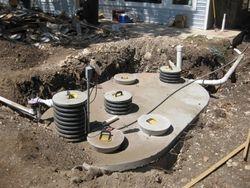 septic & pump tank