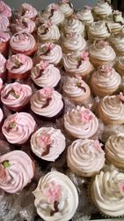 Lt Pink Apple Blossom Cupcakes