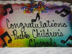 Our celebration cake for winning our award!