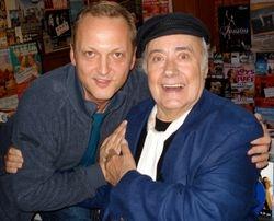 With Victor Spinetti, Edinburgh 2007