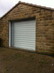Galvanised shutter.