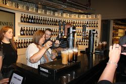 Pouring a perfect pint at Guinness Storehouse Museum in Dublin