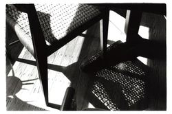 The chair and stuff making shadows