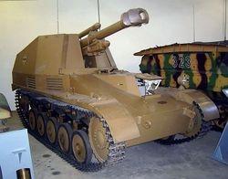 105mm Howitzer  mounted on Pz II: