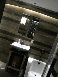 Slate and Wood bathroom