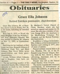 Johnson, Grace Ella Sheeder 1998