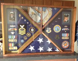Navy/Air Force Shadow Box
