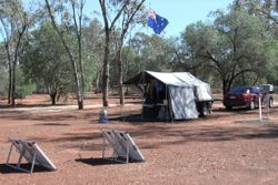 Toms Campsite at Red Lizard Campground at Charleville