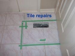 Crack tile repairs