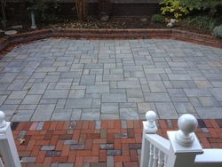 Techo Block Blu Pavers with Clay Pavers