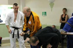 Soke Brian demonstrating a technique