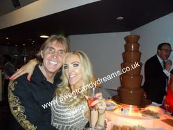 The Speakmans, Nik and Eva Celebrity Chocolate Fountain Hire.