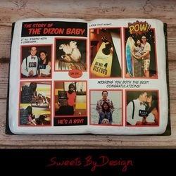 Comic Book shower cake