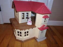 Calico Critters Beechwood Hall Light up Toy House with Critter - $50