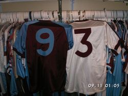David Cross  # 9 and Frank Lampard worn 1982 shirts