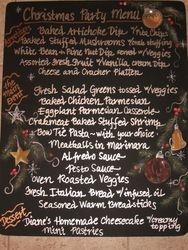 Christmas Menu Board
