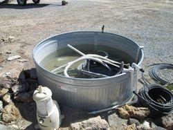Sluice tub