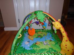 Fisher Price Rainforest Melodies and Lights Deluxe Gym - $30