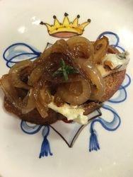 Carmelized Onion Crostini