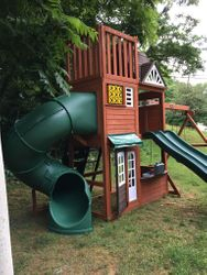hilltop swing set assembly service in annapolis Maryland