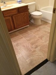 Bathroom with new tile