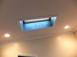 AFTER - Textured Ceiling with Slate Sky Lights