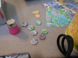 Pat's tiny patchwork pieces...