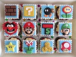 Super Mario Birthday Cupcakes
