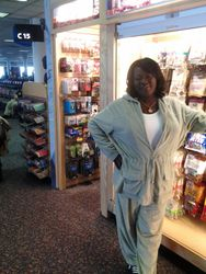 Patricia at the airport