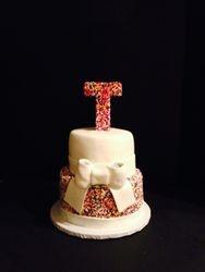 Monogram Sprinkle Cake