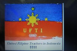 The BANNER of the United Filipino Teachers  in Indonesia