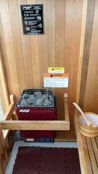 Heater in the sauna