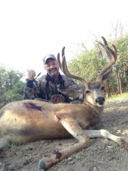 mike shoots this nice buck