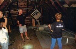 Area in the attic where Ms. Carr felt