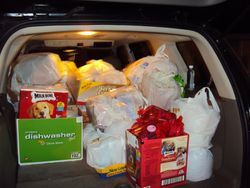 Santa's helper's sleigh is packed!