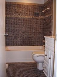 Tiled shower and floor