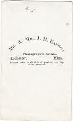 Mr. & Mrs. J. H. Easton, photographers of Rochester, Minnesota - back