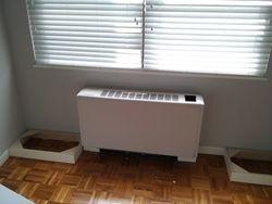 Radiator cover unit - installation