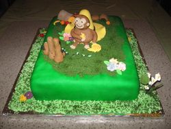 Cake 03A1 - Curious George Cake