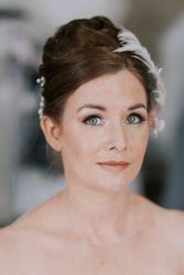 Flawless Airbrush Makeup and Elegant Updo Vintage Inspired